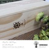 Hongdao 밧줄 Wholesale_F를 가진 주문 미끄러지는 뚜껑 나무로 되는 포도주 상자