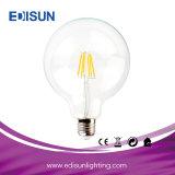 고품질 G125 6W E27 유리제 LED 필라멘트 전구