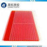 Freies und rotes Polycarbonat-Höhlung-Dach-Blatt mit UV