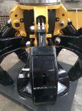 掘削機のオレンジの皮によっては5本の歯の油圧回転グラブが取り組む