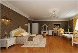 hotel Bedroom Furniture 호화스러운 대통령 또는 호화스러운 파이브 스타 호텔 대통령 Antique와 새겨진 꽃 고전적인 침실 가구 세트 (GLB-212)