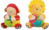 Brinquedo de macaco musical de felpa de felpa de bebê