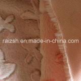 100 % polyester velours rose des fleurs coupées PV tissu polaire