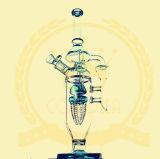 Blumehitman-Recycler-Tabak-hohe Farben-Filterglocke-Glasfertigkeit-Aschenbecher-Glasrohr-unbesonnene Becher-Trinkwasserbrunnen-Handkorona Glazeglass eindeutiges Ölplattform-grosses Glasrohr