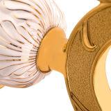 De aan de muur bevestigde Houder van de Borstel van het Toilet in Geplateerde Gouden en Geschilderd (baQaB3002-Gr-GD)