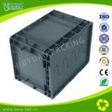 Пластмасовый контейнер серого хранения цвета сверхмощного Moving с крышкой