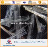 Волокно PP инженерства Fibrillated волокно для бетона