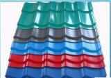 Tôle de toit ondulé galvanisé de couleur pour les matériaux de construction