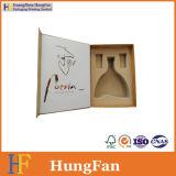 Rectángulo de papel de embalaje del regalo del vino de calidad de Hight con el encierro magnético