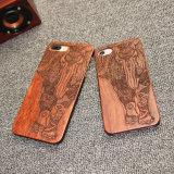 Het Natuurlijke Gesneden Houten Harde Geval van het rozehout voor iPhone 7