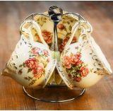 Taza de café de cerámica de la porcelana de la taza de café del diseño elegante