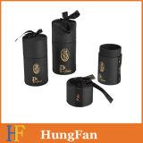 El tubo redondo de perfumes cosméticos de color negro caja de papel de embalaje Caja Caja de regalo