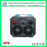 Inverseur pur de chargeur d'onde sinusoïdale d'UPS DC12V AC110/120V 1500W (QW-P1500UPS)