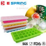 Горячий продавая поднос кубика льда силикона контейнера babyfood 21 полости с или без крышки