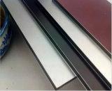uso composito di alluminio del comitato di 4mm/6mm/8mm per la decorazione del rivestimento della parete
