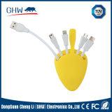 4 in 1 Kabel van de Vervaardiging USB van het Silicium Leuke 2.1A