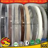 Borda de borda de madeira do PVC da cor da grão da cor contínua da alta qualidade