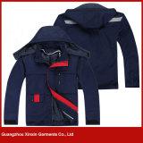 Uniformes fonctionnants de vente de chemise long chaude de l'hiver, modèle fonctionnant d'usure pour les hommes (W146)