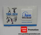 Producto de limpieza de discos móvil con la tarjeta del papel de imprenta del cliente