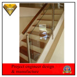 Baranda de Escalera de acero inoxidable con cristal templado