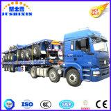半トレーラーの平面トレーラー100トンの半貨物輸送の