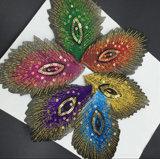 Chaqueta de plumas de pavo real Glitter parche bordado Sequin parches para la ropa de retazos aplique Ballet vestido