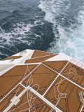 Revestimento marinho de EVA da folha Closed marinha dupla da espuma de EVA da pilha da cor