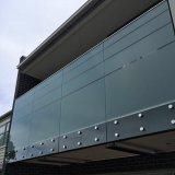 Ecrãs de privacidade de vidro fosco/Corrimão de vidro sem caixilho com separadores