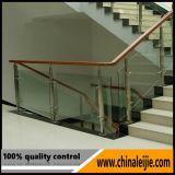 Balcón de acero inoxidable barandilla de vidrio para el paso