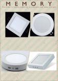 Luz de painel 85-265V de alumínio do PC 125mm do rebaixo 6W redondo do diodo emissor de luz