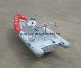 Aqualand 21feet 6.4mのガラス繊維の堅いIfnlatableのボートの/Ribのモーターボートかスポーツの漁船