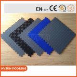 PVC caliente de Sall China que enclavija los azulejos de suelo negros del garage