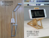 Mesa presente de mesa portátil sem fio recarregável USB LED lâmpada