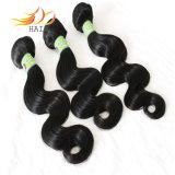 卸し売り7A等級のペルーのバージンの毛の自然な毛は編む