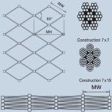 Edelstahl-Zwinge-Seil-Ineinander greifen/Filetarbeits-/Garten-Zaun