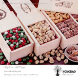 _E novo da venda por atacado da caixa de madeira do armazenamento da embalagem dos doces do Sweety do chocolate da forma do projeto de Hongdao