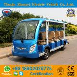 Tipo 14 Seater de Zhongyi fora do carro elétrico aberto da canela da estrada com alta qualidade