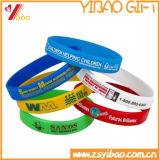 Logotipo personalizado da banda do lado de borracha/ bracelete de silicone para Dom