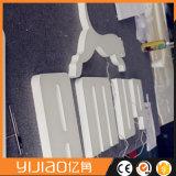Barra de encargo del almacén del restaurante del departamento de la muestra de las cartas de canal del LED que hace publicidad del LED que coloca libremente cartas de acrílico