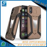 Het ijzer draagt de Lege Dekking van de Telefoon van het Geval met de Houder van de Auto voor iPhone X Geval