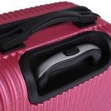 縞デザイントロリー袋、HardshellのABS荷物はセットした(XHA052)