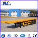 Chinese Flatbed Semi Aanhangwagen, de Vlakke Container van het Spoor, de Lassende Aanhangwagens van de Tractor voor Verkoop