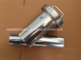 Tipo Polished sanitário extremidades soldadas extremidade de Y do filtro