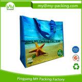 Preiswerte fördernde gesponnene pp. druckten zurückführbare PlastikEinkaufstasche