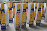 주문을 받아서 만들어진 슈퍼마켓 우유 분말 지면 서 있는 금속 상점 진열대