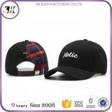Hot Sale boucle métallique courbe texte broderie logo Brim coton personnalisés capuchon noir