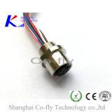 2, 3, 4, 5, 6, 8, 12 разъем панели Pin электронных M12 мыжской с отрезком провода
