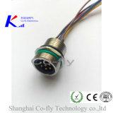 6 핀 플랜지 플러그 위원회 M23 후방 설치 전자 연결관