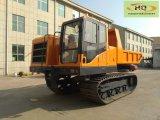 Scaricatore del Cingolo-Trasportatore di Hyraulic di marca di Haiqin (HQ-6T) con la gru di legno