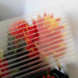 hoja gemela del invernadero del policarbonato de la pared de 6m m con alta calidad